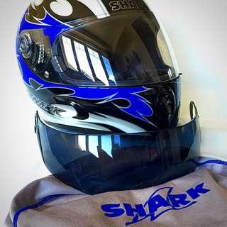 Barely Used Shark Motorcycle Helmet