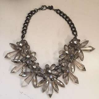 Zara Crystal Flower Statement Necklace