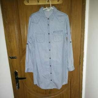 Polkadot Semi-denim Shirt