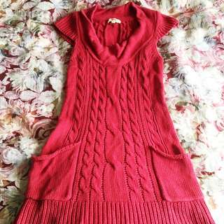Red Woollen Tops