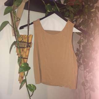 Tan Overlap Shirt
