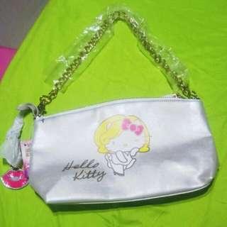 Hello Kitty瑪麗蓮夢露手拿鍊條包
