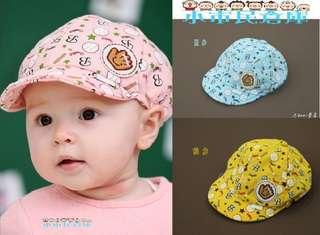 小市民倉庫~韓版兒童帽子-嬰兒帽子-男女寶寶棒球帽-鴨舌帽-造型帽-3色發售