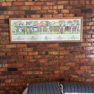 Aus Test Cricket Centenary 1877-1977 Framed Poster (AUSPOST)