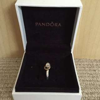 *AUTHENTIC* Two-Tone Pandora Ring