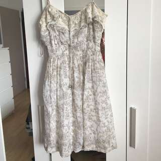 White And Brown Dress