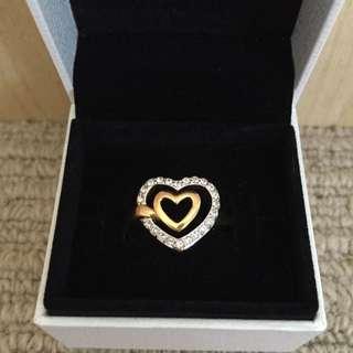 *AUTHENTIC* Swarovski Heart Ring
