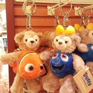 香港迪士尼樂園 Duffy & Shelliemay 海底奇兵2 造型鎖匙扣