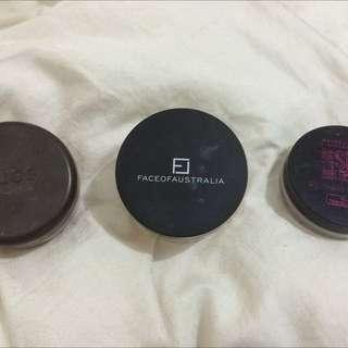 Nude Foundation Powder, Face Of Australia Setting Powder & Australias Setting Powder