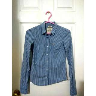 Hollister Blue Button-up
