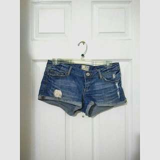 Garage Distressed Denim Short Shorts