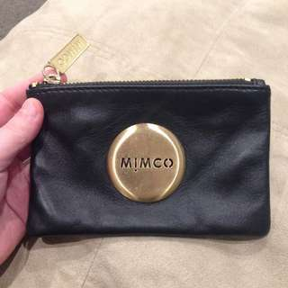 Mimco Small Black/Gold Pouch