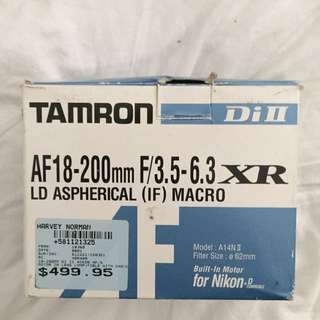 Tamron AF18-200mm F/3.5-6.3 XR Di II LD LENSE - Read Add For Details