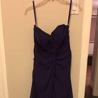 Mori Lee Chiffon Bridesmaid Dress In Eggplant
