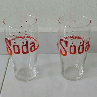 Fun Soda Glasses $4 for 2 glasses