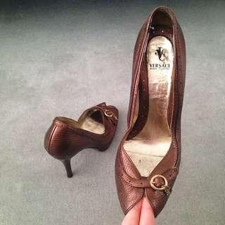 Versace Peep Toe Heels 36