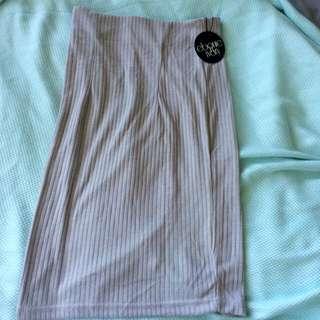 Grey Knit Skirt-new w/ Tags