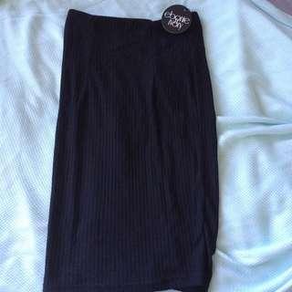 Black Knit Skirt New w/ Tags