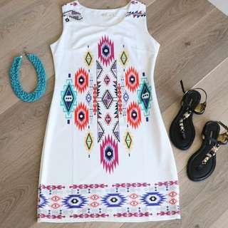 Aztec Shift Dress