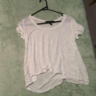 White BCBGMAXAZRIA Tshirt XS