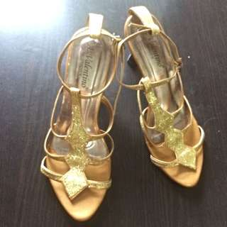 GOLD HEELS LOCAL PRODUCT GOOD QUALITY MURAH