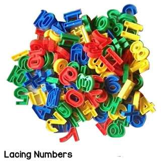Lacing Numbers, Alphabets,  Beads