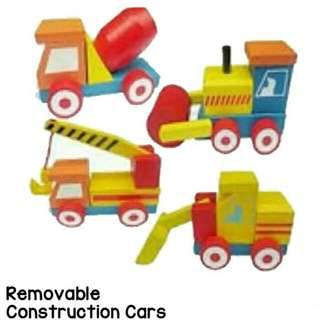 Removable Constructuon Cars