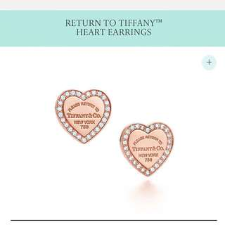 RETURN TO TIFFANY™ DIAMOND HEART EARRINGS