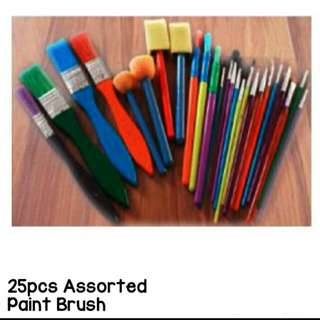25pcs Paintbrush Assorted