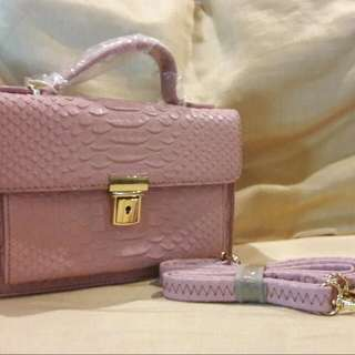 Pink Leathered Bag