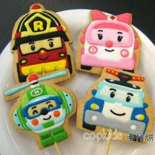 Cookids手作烘焙poli波力糖霜餅乾