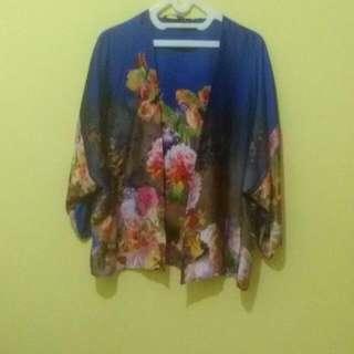 Cardi Kimono Blue Flower