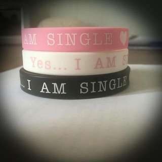 Yes I am Single Wristbands for Sale $10
