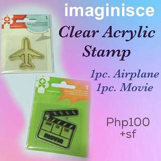 imaginisce Clear Acrylic Stamp
