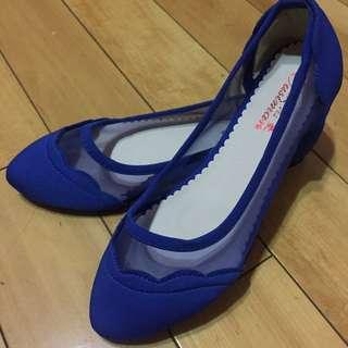 網紗平低娃娃鞋