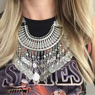 Bohemian Style Coin Necklace