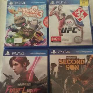 Ps4 Games .. 9 Games To Choose From