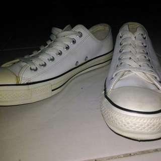 Converse White Leather Grade Ori
