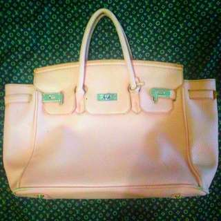 Hermes Handbag (Light Pink)