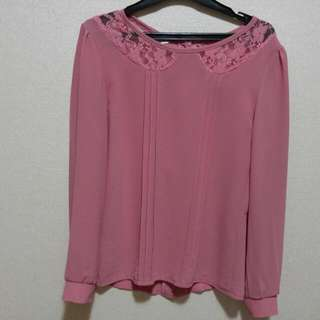 Pink Peterpan Lace Top