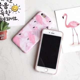Flamingo iphone case for 6 plus - PINK