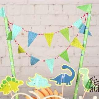 Birthday Cake Bunting (Dinosaur)