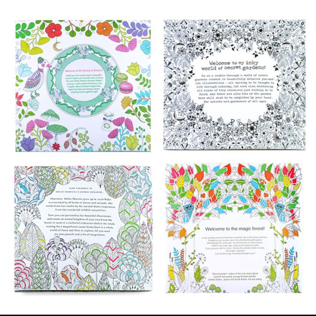 4pcs English Edition Secret Garden Fantasy Dream Animal Kingdom Coloring Book Children Adults Colouring Each 24 Pages Books Stationery