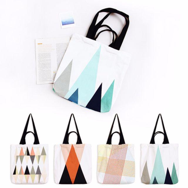 幾何圖形帆布袋