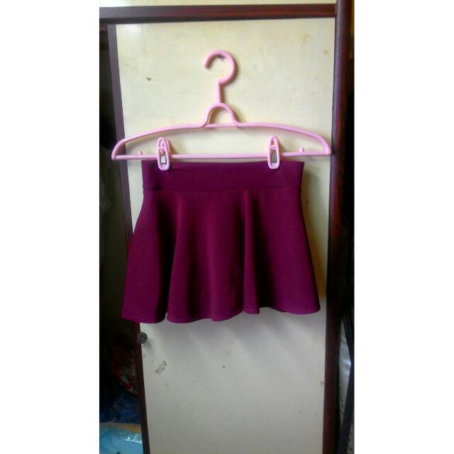 酒紅色 傘裙(褲裙)