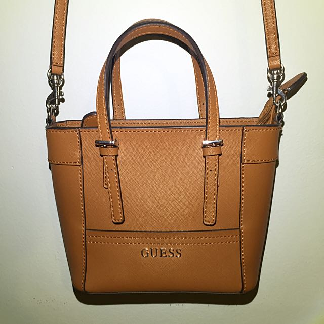👜 LEATHER BROWN GUESS CROSS-BODY 👜