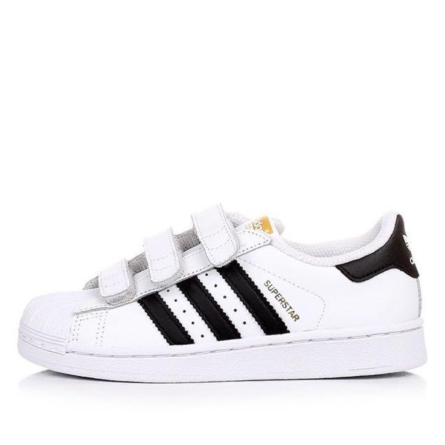 預購 Adidas Superstar 金標魔鬼氈版 21、215(22.5-23CM可穿)正品代購 含盒裝
