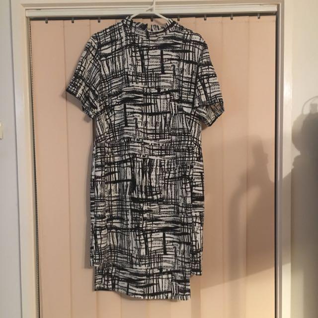 Asos black and white dress UK size 12