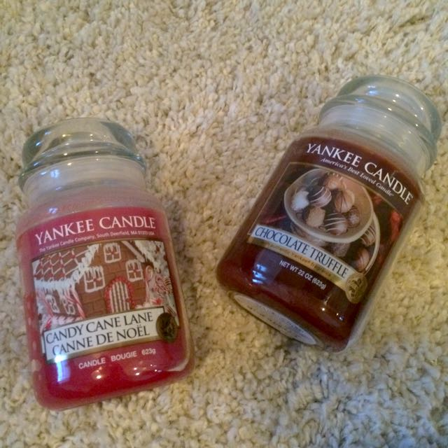 Assorted Yankee Candles and Bath & Body Works Candles