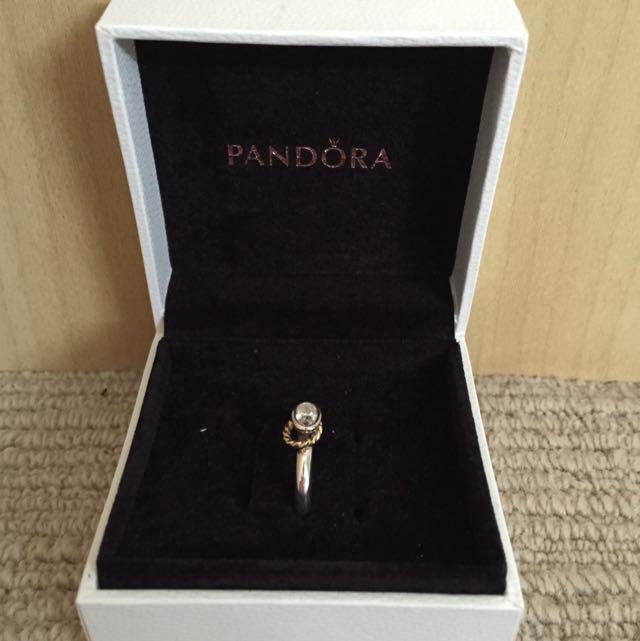 *AUTHENTIC* Two-Tone Pandora Ring